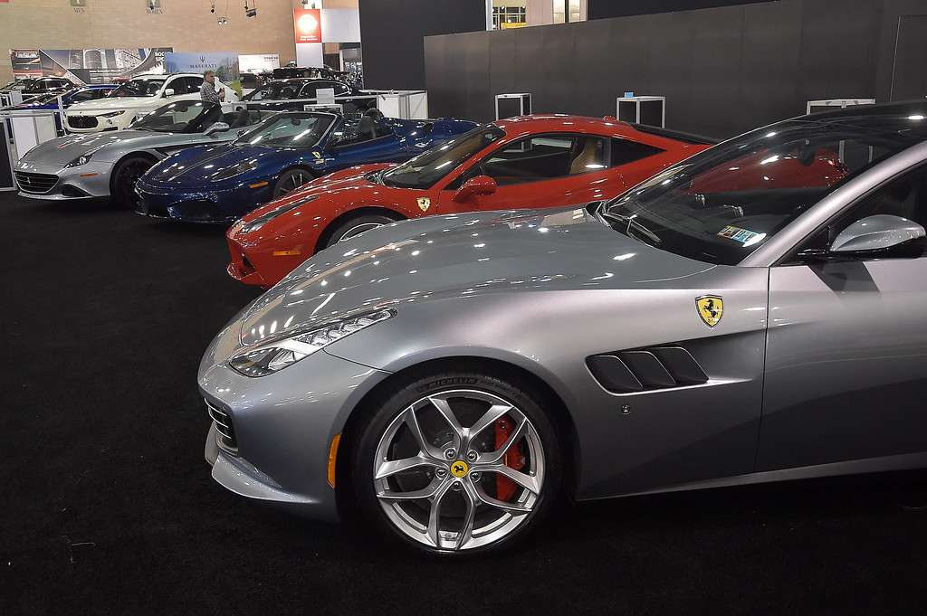 . Astable of Ferraris from Algar Ferrari of Philadelphia.