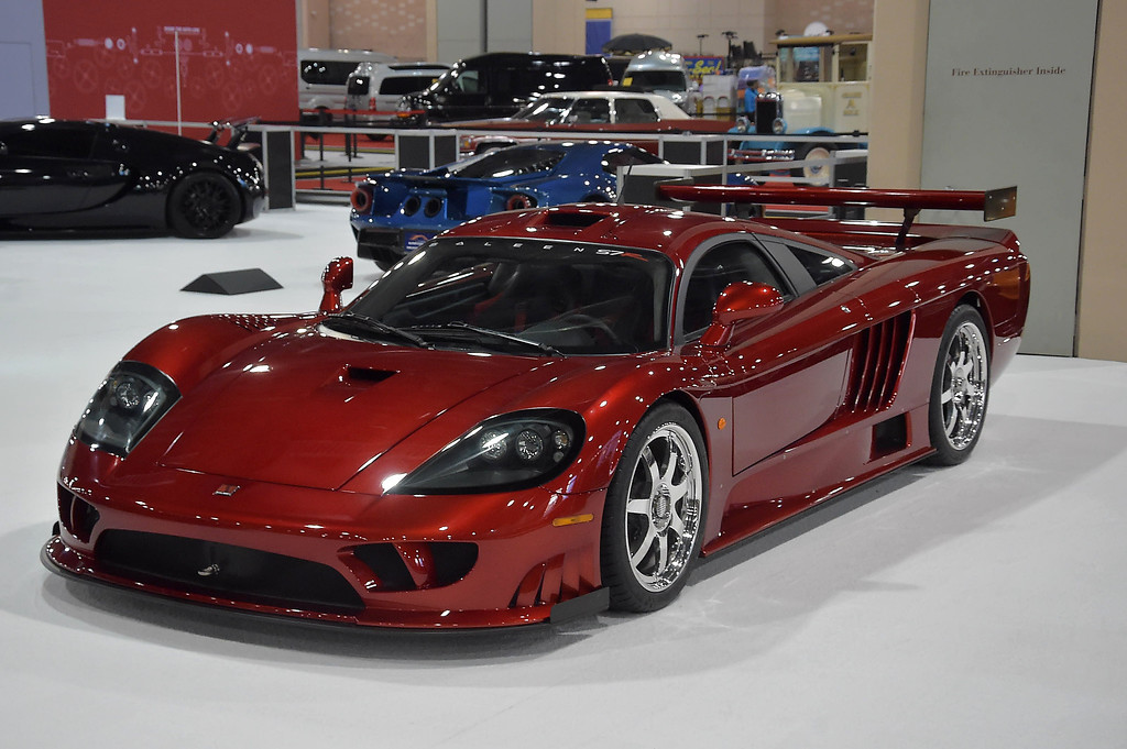 . 2007 Saleen S7 with mid-mounted engine. One of three factory production built with a top speed of 247 miles-per-hour.