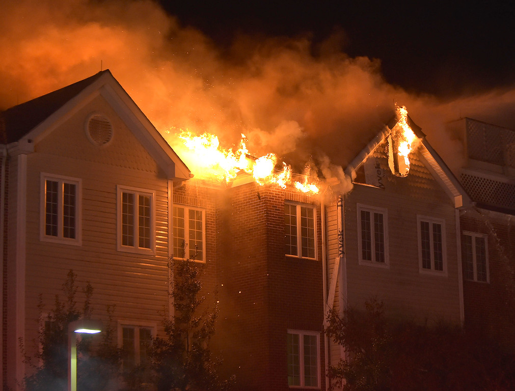 . PETE BANNAN-DIGITAL FIRST MEDIA   	Fire engulfs the Barclay Friends Home in a horrific fire late Thursday evening. Hundreds of residents were evacuated from after an explosion and fire destroyed the home.