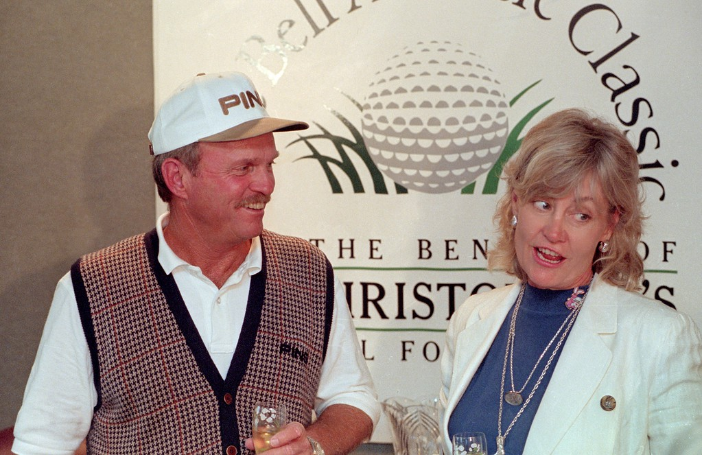 . Bob  and Dell Eastwood, winner of the Bell Atlantic Classic. May 25, 1997.  DAILY LOCAL NEWS FILE PHOTO