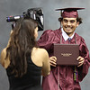 ROBERT GURECKI   -   DFM<br /> Conestoga graduating senior Sam Samir Bouhdary is about to get his official photo taken after recriving his diploma at Conestoga's 108 commencement held at Villanova University.