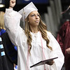 ROBERT GURECKI   -   DFM<br /> Ilana Joy Zipkin with diploma in hand shows her enthusiasm leaving the stage of Conestoga's 108 commencement.
