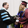 """ROBERT GURECKI   -   DFM<br /> Conestoga graduating senior  Wade Bennett, right, is about to receive the silver cup that is confered to the """"All-School Scholar Awards"""" winners at the  Conestoga's 108 commencement held at Villanova University."""