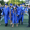 PETE BANNAN-DAILY LOCAL NEWS   Downingtown West Class President  Courtney Diec carries the school scepter as she leads her fellow students out of commencement Thursday June 9, 2016 at Koffmeyer Stadium.
