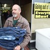 PETE  BANNAN-DIGITAL FIRST MEDIA  David Turner, founder of David's Drive 831 clothes from the closed Coatesville Army & Navy store as part of leftover inventory that the store sold them at a reduced price so they can distribute in to the Coatesville VA and to youth groups.