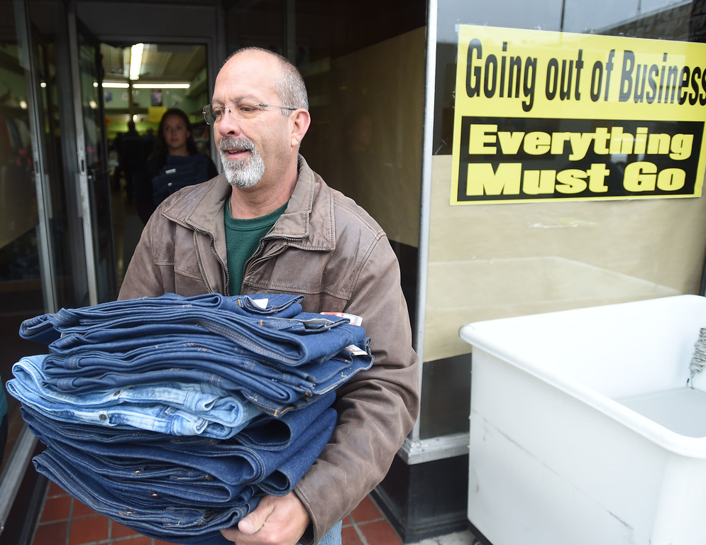 . PETE  BANNAN-DIGITAL FIRST MEDIA  David Turner, founder of David\'s Drive 831 clothes from the closed Coatesville Army & Navy store as part of leftover inventory that the store sold them at a reduced price so they can distribute in to the Coatesville VA and to youth groups.