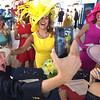 PETE BANNAN - DIGITAL FIRST MEDIA      Television personality Carson Kressley, left, take a selfie with Devon ladies  group hat winners Sharon Bozentka, Joanne Bogan(obscured) Anette Brennan ,Tina Aberant and judge Caroline O'Halloran(bottom right). Over 125 area women sporting their finest bonnets, chapeaus and headpieces took part in the annual hat contest at Ladies Day at Devon Horse Show and Country Fair Wednesday.