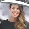 PETE BANNAN - DIGITAL FIRST MEDIA       Allison Maxim of Wayne sports an Ella Grace hat at the Devon Horse Show and Country Fair hat contest.