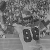 DAILY LOCAL ARCHIVES -  John Spagnolia after his first touchdown in 1980. He played for the Eagles from 1979-1897. DAILY LOCAL NEWS ARCHIVES