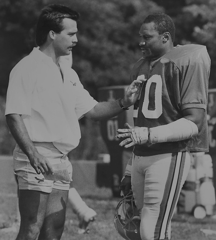 . DAILY LOCAL ARCHIVES -  Jeff Fisher ?  with Andre Waters.