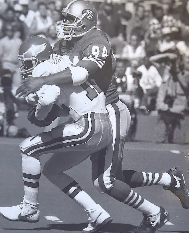 . Randell sacked.  Photo by Larry McDevitt. DAILY LOCAL NEWS ARCHIVES