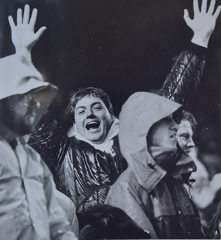 . Eagles fans celebrate. Photo by Kristen Cortazzo DAILY LOCAL NEWS ARCHIVES.