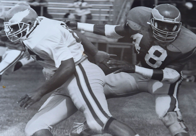 DAILY LOCAL ARCHIVES -  Jackson puts a move on Hopkins. Camp '88 Photo by Larry McDevitt