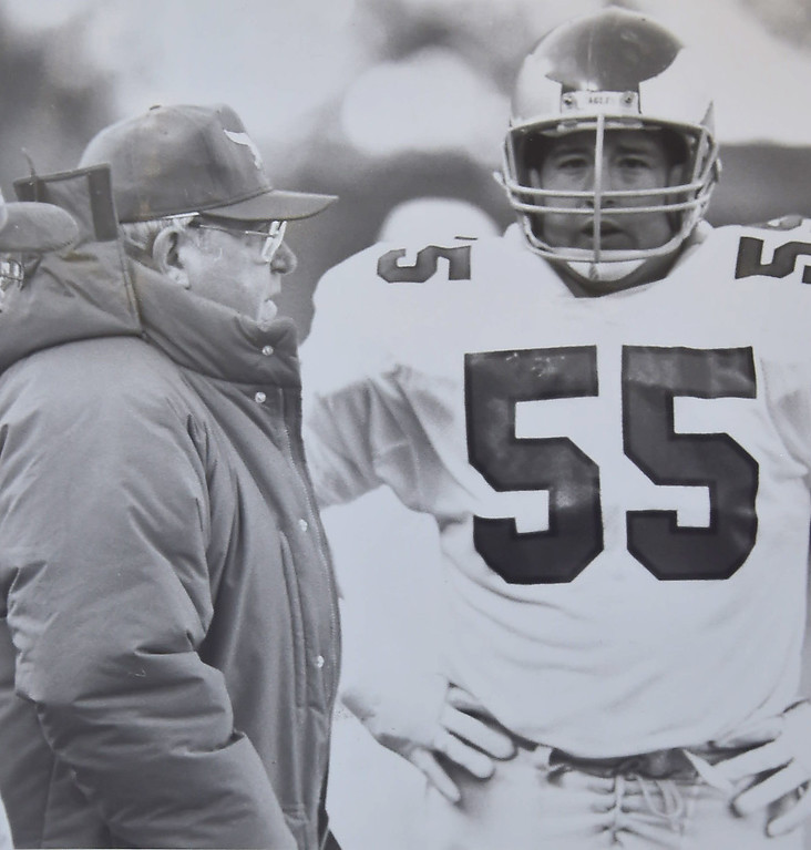 . Buddy Ryan andlinebacker Mike  Reichenbach. DAILY LOCAL NEWS ARCHIVES
