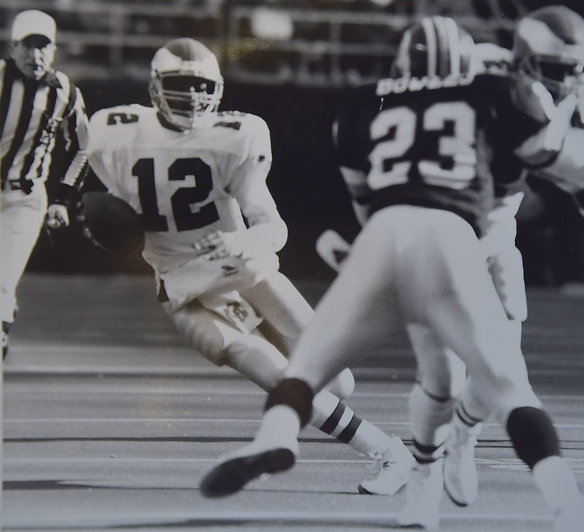 . Randell runs for yardage. Photo by Ben Morrison.    DAILY LOCAL NEWS ARCHIVES