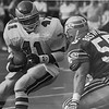 Keith Byers against the Seahawks in 1989, the Eagles won 31-7.  DAILY LOCAL NEWS ARCHIVES