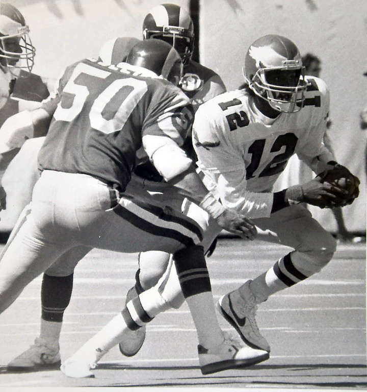 . Randell Cunningham against the Rams. DAILY LOCAL NEWS ARCHIVES