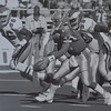 Atlanta quarterback Chris Miller chased by (99) Jerome Brown. Photo by Bill Stoneback  DAILY LOCAL NEWS ARCHIVES.
