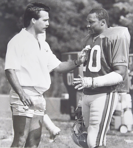 DAILY LOCAL NEWS ARCHIVES  -Assistant coach Jeff Fishers with Andre Waters