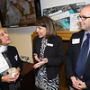 PETE BANNAN-DIGITAL FIRST MEDIA   Rebecca Lukens Award winner,Barbara Cohen talks with Citadel Bank manager Gwen Smoker and Graystone Committee member Doug Thompson.
