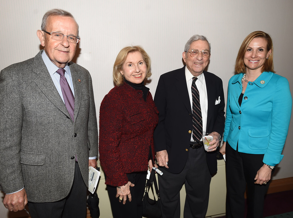 . PETE BANNAN-DIGITAL FIRST MEDIA Attending the10th Annual Rebecca Lukens Awards were Woody Goldberg and Susan Horwitz Goldberg . Woody is a longtime member of Graystone Society with former Graystone Society director, Gene DiOrio and Chester County commissioner  Michelle Kichline.