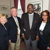PETE BANNAN-DIGITAL FIRST MEDIA   Frances Sheehan, CEO of Brandywine Health, James D. Ziegler, executive director of the National Iron and Steel Heritage Museum, Bobby Duncan, pastor of Greater Deliverance church in S. Coatesville and his wife Stephanie.