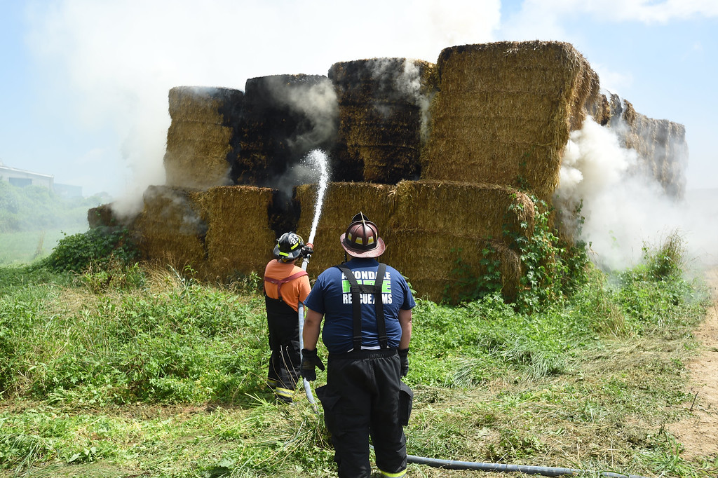 PHOTOS: Massive haybale fire in Avondale - Daily Local News Media Center
