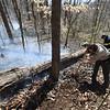 PETE BANNAN-DIGITAL FIRST MEDIA  Crews make a fire break at a woods fire at Hibernia Park Wednesday APril 6, 2016.