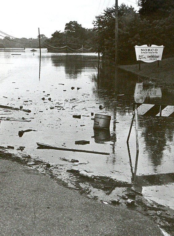 . DAILY LOCAL ARCHIVES   -Following Hurricane Agnes. Norco Apartments June 1972.