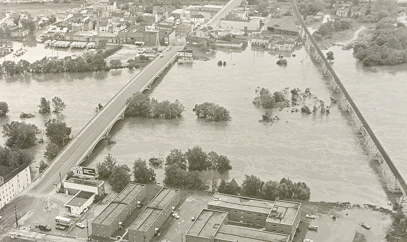 DAILY LOCAL ARCHIVES   -Following Hurricane Agnes.Norristown.