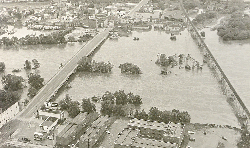 . DAILY LOCAL ARCHIVES   -Following Hurricane Agnes.Norristown.