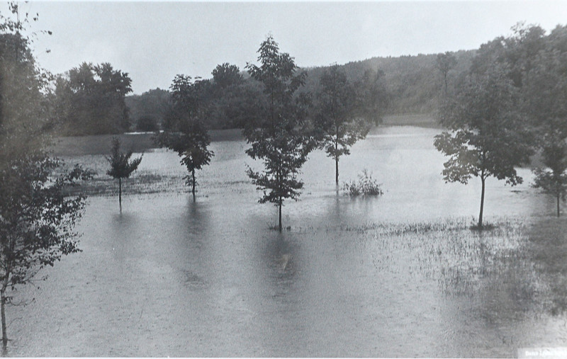 DAILY LOCAL ARCHIVES   -Following Hurricane Agnes.Instant creek at Meadow, Blue Rock Farm Minzer and Creek Rds. June 1972.