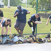PETE BANNAN  DIGITAL FIRST MEDIA  Corban Schwartz, Hannah Matlack, Venul Fernando, Joshua Skerrett, and Elijah ROmano gear up for Chester County Department of Emergency Services' Junior Public Safety Camp Olympics Thursday at the Chester County Public Safety Training Campus, Tactical Village in S. Coatesville. The Junior Olympics takes the skills that the students, aged 14 to 17, have spent a week learning and puts them to practical use in various scenarios.