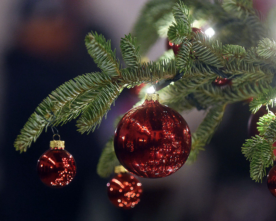 . PETE  BANNAN-DIGITAL FIRST MEDIA     Ornaments on the tree at the Peirce-duPont House at Longwood Gardens.