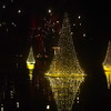 PETE  BANNAN-DIGITAL FIRST MEDIA    <br /> Floating Tree lights at Longwood Gardens.