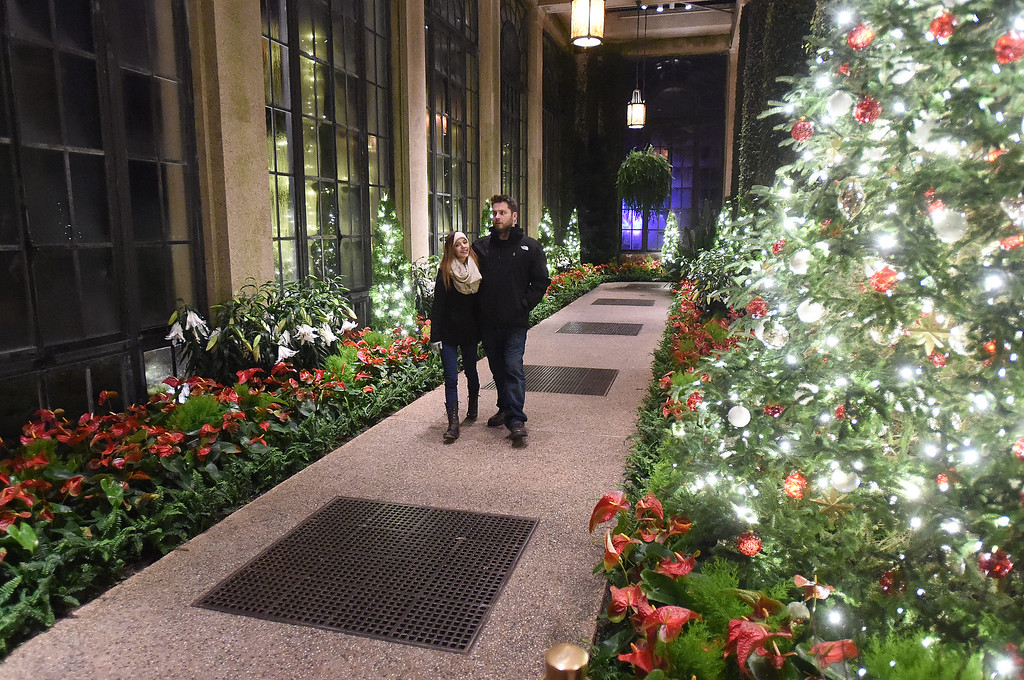 . PETE  BANNAN-DIGITAL FIRST MEDIA     A romantic walk in the Conservatory at Longwood Gardens.