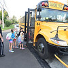 PETE  BANNAN-DIGITAL FIRST MEDIA         West Whiteland Police Detective Jeff McCloskey rode the school bus to Mary C. Howse Elementary Wednesday to speak to the children about school bus safety as part of Operation Safe Stop.  Operation Safe Stop is part of National School Bus Safety Week,  a public awareness and enforcement effort to educate the motoring public that passing a stopped school bus, is dangerous and illegal.