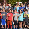 PETE  BANNAN-DIGITAL FIRST MEDIA  Bradford Heights Elementary School held a Patriots Day Flag Raising ceremony Monday, Sept. 12, 2016.  A student honor guard of Girl and Boy scouts raised the flag,recited the Pledge of Alliance and held a moment of silence.
