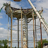PETE BANNAN-DIGITAL FIRST MEDIA      	  The 750,000 water tank at the Pennhurst State Hospital property is coming down this week.