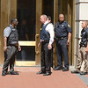 PETE BANNAN DAILY LOCAL NEWS- Police and Sheriffs at a shooting at the Chester County Justice Center occurred there shortly before noon Tuesday in the first-floor lobby involving a members of the county Sheriff's Office and a man who was apparently trying to enter.
