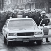 The Ku Klux Klan marched through the streets of the borough Saturday (Jan. 12, 1991) sparking a counter-demonstration that ended with a tense standoff between anti-Klan protesters and police at borough hall.  West Chester police said 32 hooded Klansmen and 15 white-supremacist 'skinheads' completed the six-block march in just over 10 minutes-surrounded by a squad of uniformed state police including 10 mounted troopers.<br />  Daily Local News file photo