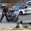 VINNY TENNIS - Daily Local News<br /> <br /> A motorcyclist was reported to be in critical condition following an accident at West Goshen on Friday, Nov. 27, 2015. According to West Goshen Police, shortly after 2 P.M. a SUV traveling east on the bypass turned left into the path of the westbound motorcyclist. The patient was transported by Good Fellowship Ambulance with a Chester County Medic on board. West Chester Fire Police directed traffic as police investigated the crash and the scene was cleared.