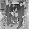 Change of Command.<br /> Retiring West Chester police Chief George H. Guss (right), reviews duties of the past with Chief Chester County Detective THomas G. Frame (left), who will step into the police chief post Jan.1  Looking on is desk Sgt. Linwood Bonner.. Nov. 16, 1968  DAILY LOCAL ARCHIVES