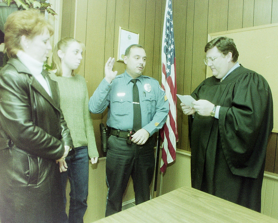 . Dec 3 , 2000 Brandywine police swearing-in.