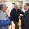Sandra and Ken Zimmermann talk with Dr. Don Meyer, the President at University of Valley Forge at the opening of Phoenixville Hospital's new senior citizen emergency room Monday May 16, 2016. The seven bed  ER/observation unit is the first of its kind in the region.
