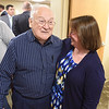 PETE BANNAN-DIGITAL FIRST MEDIA  Gerrit Dobson of Kimberton with Tina Hess of Spring Mill Senior Living at Phoenixville Hospital's new senior citizen emergency room Monday May 16, 2016. The seven bed  ER/observation unit is the first of its kind in the region.