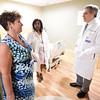 PETE BANNAN-DIGITAL FIRST MEDIA  Dr. Amy JaneCadieux talks with Dr. Asha Kovalovich and Dr. David Malamed at the opening of Phoenixville Hospital's new senior citizen emergency room Monday May 16, 2016. The seven bed  ER/observation unit is the first of its kind in the region.