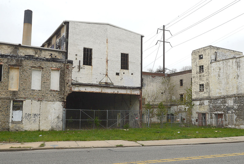 PETE BANNAN-DIGITAL FIRST MEDIA  The abandoned Sonoco Paper Mill  in Downingtown. Donald Trump tweeted a photo of this that drew criticism from Downingtown mayor Josh Maxwell.