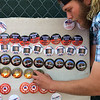 PETE BANNAN-DIGITAL FIRST MEDIA   Vender  Jeremy Anthony of Tampa, Florida posts  Donald Trump for President buttons on Sharpless St. in West Chester ahead of the Donald Trump rally at West Chester University in the Hollinger Field House on campus April 25, 2016.