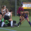 West Chester's Katie Hatch digs but can't get the ball past Bloomsburg goalie Dana Sheply in the first half. THe second period was a different story as Hatch scored one of 4 Golden Ram goals in the 4-0 victory.